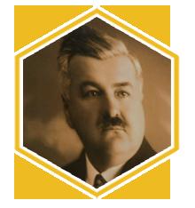 Slika Franca Košaka, ki je čebelarskemu društvu Grosuplje podaril dom